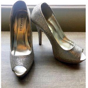 Rampage Silver Stilettos